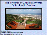 The influence of IVIg on activated ODN -B cells function